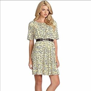 Anthropologie Cremieux Horse Print Pleated Dress